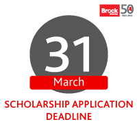 Scholarship Application Deadline - March 31st